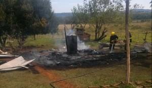 Por un cortocircuito se incendió una vivienda en San Javier