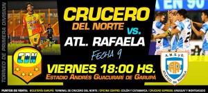 La AFA confirmó que Crucero-Atlético Rafaela se juega el viernes a las 18