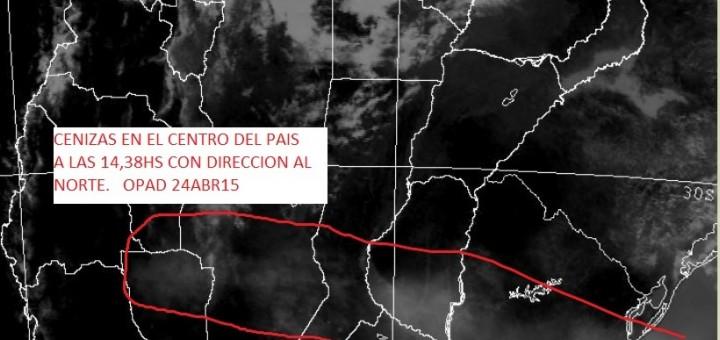 Según la OPAD, mañana podrían llegar las cenizas del volcán a Misiones