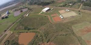 La aeronave no tripulada del CEDIT tomó imágenes aéreas, en una prueba de vuelo