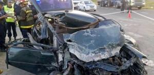 """""""No vas a ver más a tus hijos"""": le mandó un SMS a su ex y los estrelló contra un camión, en la ruta 14"""