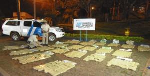 Prefectura decomisó marihuana en distintos operativos ejecutados en Misiones y Corrientes