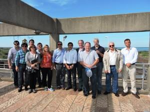 Ministros y Secretarios de Obras Públicas de las Provincias visitaron la central hidroeléctrica y otras obras de Yacyretá