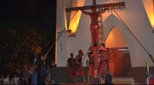 Jóvenes de la Diócesis de Oberá representaron la Pasión de Cristo