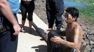 Quiso robar, lo sorprendieron y se tiró al arroyo Mártires para que no lo detuvieran: terminó mojado y arrestado