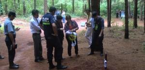 Femicidio en Piray: la jueza inspeccionó el pinar donde asesinaron a Miriam