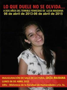 Lucía Maidana: a dos años de su femicidio la Facultad de Humanidades impondrá su nombre a una sala de lectura