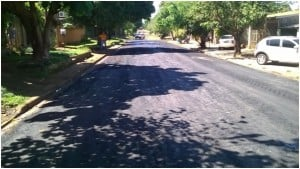 Concluyen obras de pavimentación en la Chacra 17