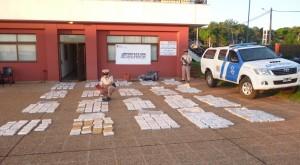 Prefectura secuestró 463 kilos de marihuana y detuvo a cuatro personas en Rincón del Ombú