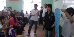 """Activa participación de alumnos del BOP 86 en el taller de """"Prevención de Adicciones"""" que brindó el Hogar de Día"""