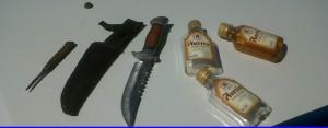 Deambulaba en estado de ebriedad, portando un cuchillo: fue detenido
