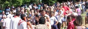 Más de 20 mil peregrinos visitaron el Cerro Monje en San Javier