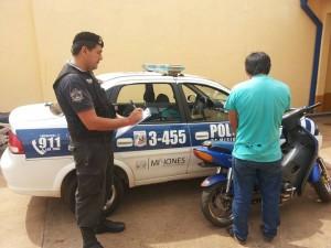 Posadas: intento evadir control policial pero fue detenido