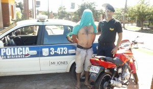 Posadas: fue detenido por realizar maniobras peligrosas con su  motocicleta