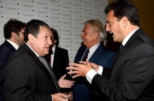 Massa y Puerta compartieron escenario en la cena del Cippec