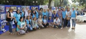 La UDPM expuso con una muestra de fotografías en la plaza 9 de Julio por su 45º aniversario