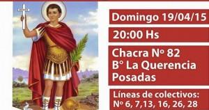 Mañana novena a San Expedito en el barrio La Querencia