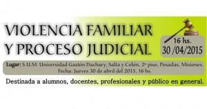 Realizarán en Posadas una jornada sobre Violencia Familiar y Proceso Judicial