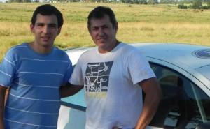 Zarza probó el nuevo Ka en Candelaria asesorado por el un campeón del Rally Misionero