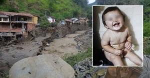 Un bebé sobrevivió a la avalancha que mató a toda su familia en Colombia, después de arrastrarlo dos kilómetros