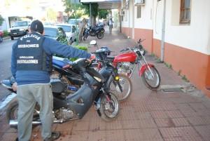 Recuperan motos robadas y vendidas en Nemesio Parma