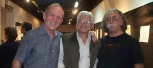 """Bernardo Neumann, Antonio Latreccino y Juan Carlos Nuñes se unieron, pero no como """"El agua y el aceite"""" en el museo Areco"""