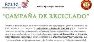 Rotarac Club Posadas Villa Lanus invita a sumarse a campaña solidaria y de concientización