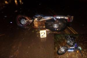 Mojón Grande: Dos muertos y un herido en choque de motos