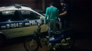 Comando Oeste detuvo a siete jóvenes y secuestró una moto en operativo de prevención