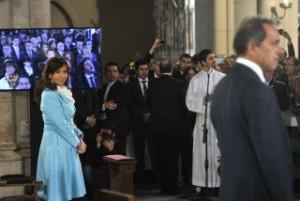 Acompañada por todo el gabinete, la Presidente asistió al Tedeum en Luján