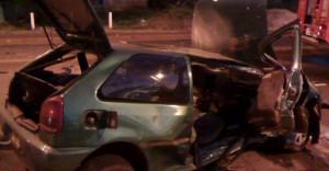 Dos heridos tras despiste de un auto en el Acceso Sur de Posadas