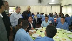 El ministro Franco almorzó con los aspirantes a agentes del S.P.P. y celebró la finalización del curso teórico