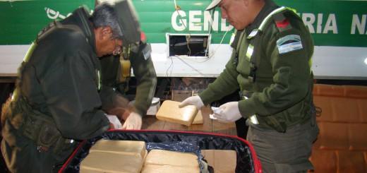 Gendarmería secuestró marihuana en un colectivo que salió de Misiones