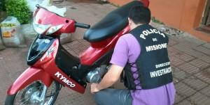 Recuperaron moto con pedido de secuestro en el barrio Yacyretá