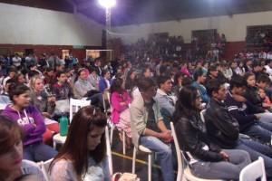 Gran convocatoria de jóvenes  en el Primer Congreso Juvenil organizado por el Hogar de Día y la Municipalidad de Irigoyen