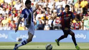 Barcelona venció a Real Sociedad y acaricia el título de la Liga