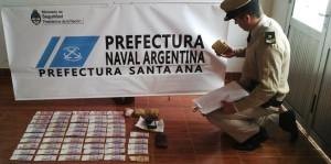 Luego de una persecución secuestraron un kilo de cocaína en Candelaria y detuvieron a un narco