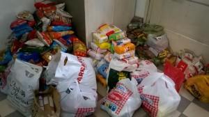 Cáritas recolectó más de 600 kilos de alimentos durante el festival del Chamamé