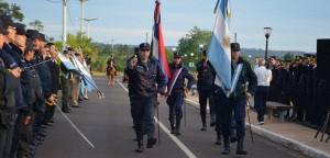 En Eldorado el acto del 159º aniversario de la Policía se realizó en la costanera