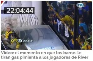 Identificaron al agresor de los jugadores de River el jueves en la Bombonera