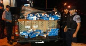 Secuestraron casi 3.000 gruesas de cigarrillos y detuvieron a tres personas en El Soberbio