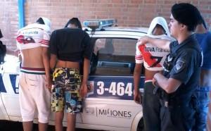 Cuatro detenidos por intentar sustraerle la mochila a un menor