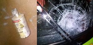 Cerro Azul: le tiraron una granada de gas a un colectivo que iba a Buenos Aires