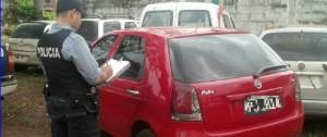 Jardín América: Detectaron dos vehículos con papeles falsos y con pedido de secuestro de Buenos Aires