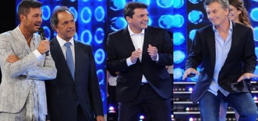 Scioli, Macri y Massa: por separado, Tinelli juntó a los tres presidenciables