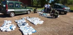 Gendarmería secuestró mercadería de contrabando por 5 millones, en Garupá