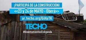 TECHO construirá 21 casas este fin de semana en Oberá