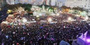 Una multitud en el Congreso y otros puntos del país pide #NiUnaMenos
