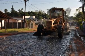 Avance semanal de obras viales en varios municipios