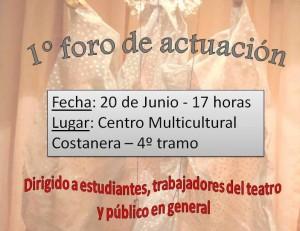 El próximo 20 de junio se realizará el primer foro de actuación en Posadas